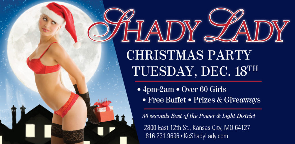 The Shady Lady Christmas Party 2018 Banner